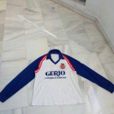 Coleccionismo deportivo: CAMISETA FUTBOL GIRONA GERONA AÑOS 80 MANGA LARGA CON DORSAL 6. Lote 114615216