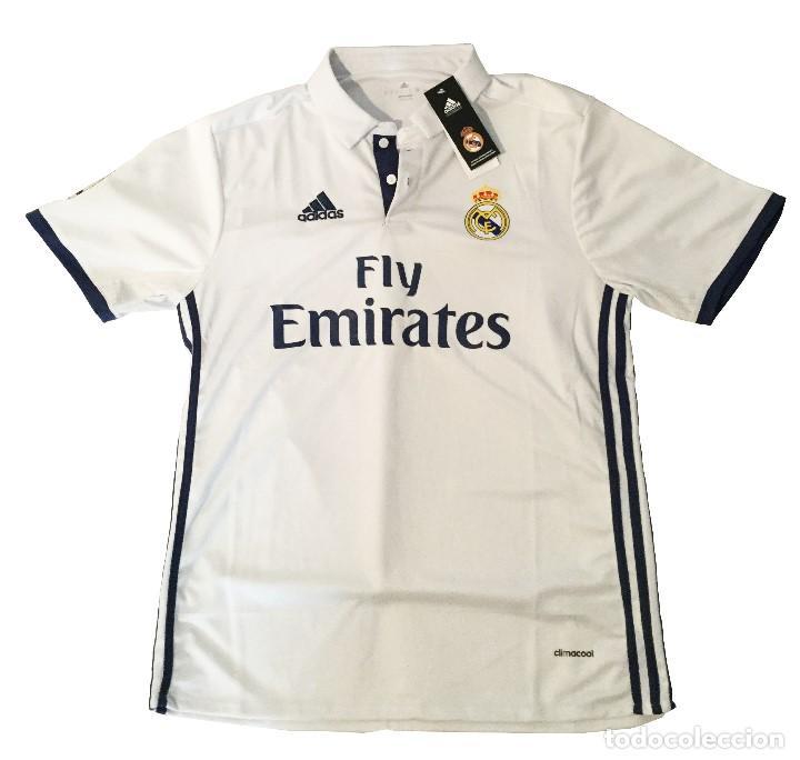 9c80158062b84 Camiseta Real Madrid CF Primera Equipación 2016 17 Adidas ¡Vaso de REGALO!