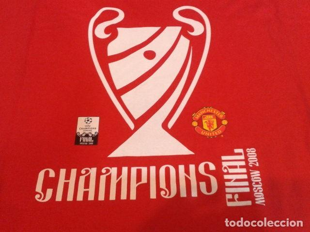 CAMISETA MANCHESTER UNITED OFICIAL ( FINAL CHAMPIONS 2008 ) MOSCOW 2008  ORIGINAL