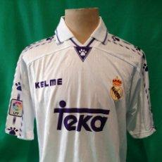 Coleccionismo deportivo: CAMISETA KELME MATCH WORN REAL MADRID RAÚL GONZÁLEZ. Lote 117152188
