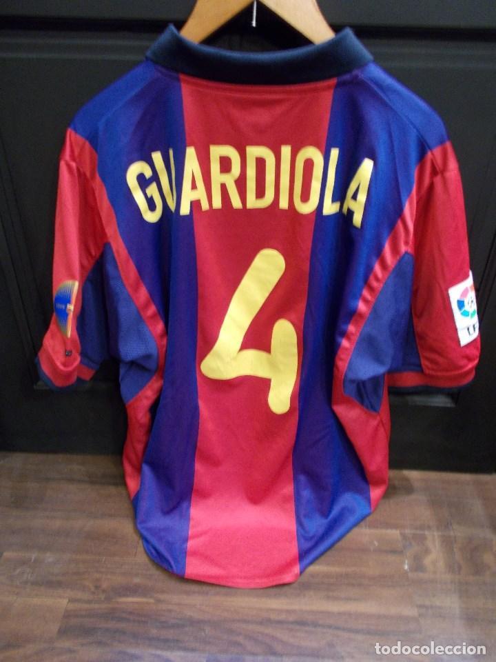 PEP GUARDIOLA F.C.BARCELONA CAMISETA OFICIAL UTILIZADA POR EL JUGADOR  FIRMADA Y DEDICADA (SR) c72feb483db6e