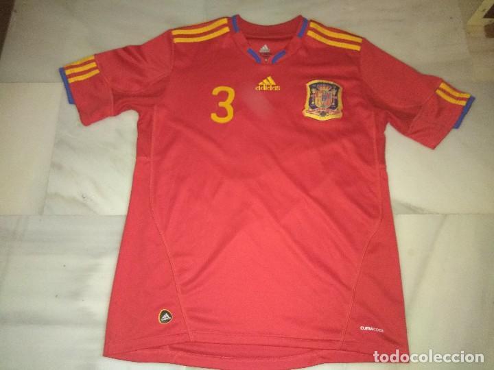 CAMISETA DE FÚTBOL ESPAÑA PIQUE 3 (Coleccionismo Deportivo - Ropa y Complementos - Camisetas de Fútbol)