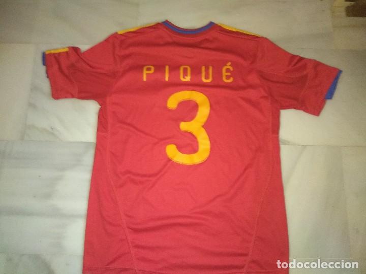 Coleccionismo deportivo: Camiseta de fútbol España pique 3 - Foto 2 - 117567775