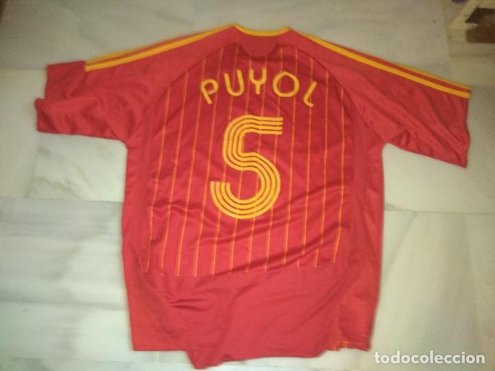 Coleccionismo deportivo: Camiseta de fútbol de España Puyol 5 talla L - Foto 2 - 117569019