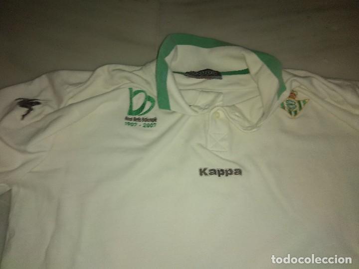Coleccionismo deportivo: Polo real Betis centenario Kappa talla x large - Foto 2 - 117571507