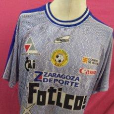 Coleccionismo deportivo: CAMISETA ESCUELA BASE FUTBOL SALA FOTICOS REAL ZARAGOZA. Lote 118905875