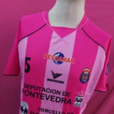 Coleccionismo deportivo: CAMISETA FUTBOL SALA ORIGINAL BEMISER JUGADOR VEGA LEIS PONTEVEDRA TEMPORADA 08/09 TALLA 3XL. Lote 118906887