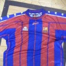 Coleccionismo deportivo: CAMISETA OFICIAL DEL BARCELONA F.C.TEMPORADA 1996.KAPPA TALLA L.MADE IN SPAIN MANGA CORTA.. Lote 120028695