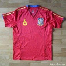 Coleccionismo deportivo: CAMISETA FUTBOL SELECCIÓN NACIONAL ESPAÑA Nº 6 INIESTA TALLA S. Lote 122111943