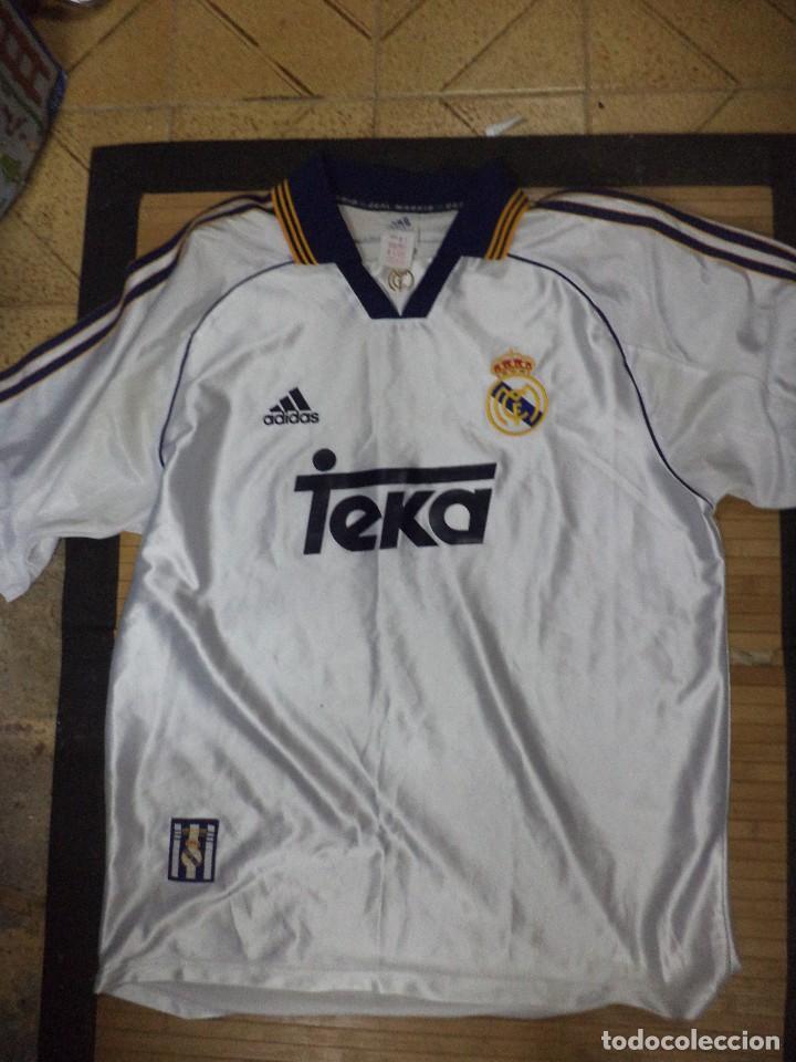 best sneakers e4ef0 3ed80 Camiseta oficial del Real Madrid.Temp.1999 / 2000.Campeón de la 8ª copa de  Europa.Raul,Redondo.