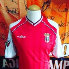 Coleccionismo deportivo: CAMISETA FUTBOL SPORTING BRAGA 2001-2002 PARCHE UMBRO. Lote 122665571