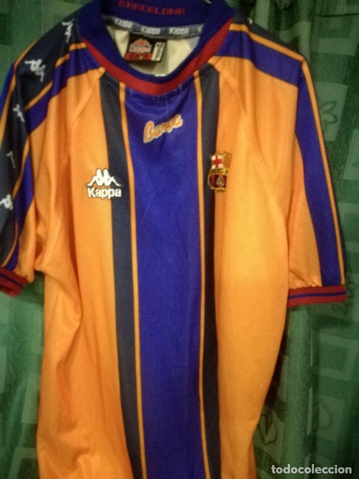 innovative design e9971 9090b FC Barcelona Kappa AWAY 1995 XL Camiseta futbol football shirt