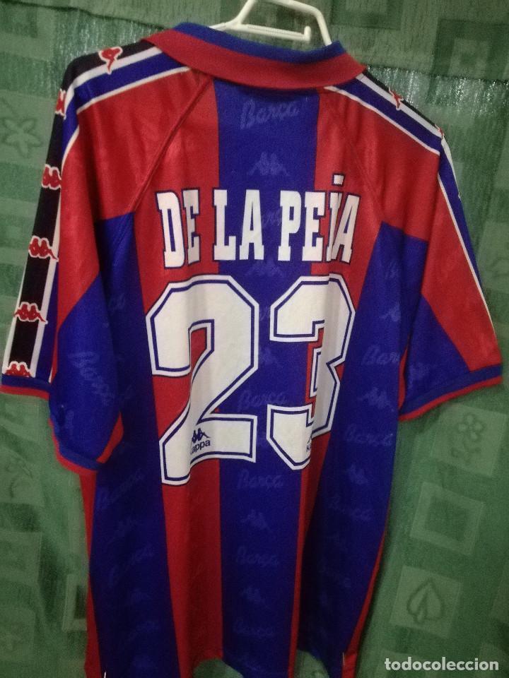 576b6ba8349 Coleccionismo deportivo  FC Barcelona De La Peña MATCH WORN XL Camiseta  futbol football shirt -
