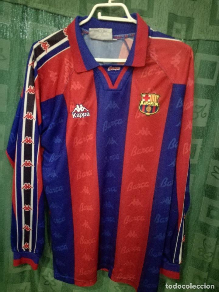 FC BARCELONA MATCH WORN B L CAMISETA FUTBOL FOOTBALL SHIRT (Coleccionismo Deportivo - Ropa y Complementos - Camisetas de Fútbol)