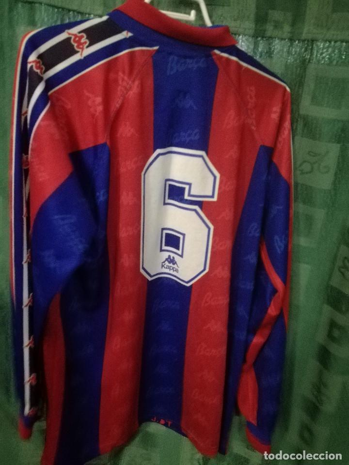 Coleccionismo deportivo: FC Barcelona MATCH WORN B L camiseta futbol football shirt - Foto 2 - 124589803