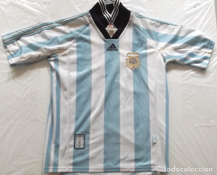 053905f001d1a CAMISETA FUTBOL ORIGINAL ADIDAS ARGENTINA OFICIAL (Coleccionismo Deportivo  - Ropa y Complementos - Camisetas de