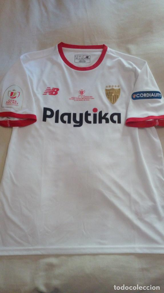 Fußball-Trikots Camiseta shirt titular match worn Sevilla CF Final Copa Rey 2018 Sarabia