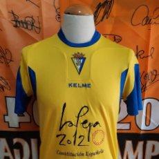 Coleccionismo deportivo: CAMISETA FUTBOL CADIZ C.F 2009-2010 KELME VIVA LA PEPA . Lote 125216995