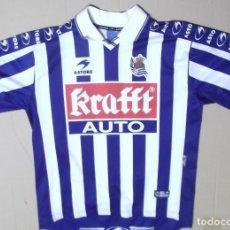 Coleccionismo deportivo: CAMISETA FUTBOL ORIGINAL ASTORE OFICIAL REAL SOCIEDAD KRAFFT . Lote 126058019