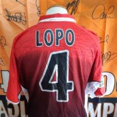 Coleccionismo deportivo: CAMISETA FUTBOL R.C.D ESPAÑOL Nº4 LOPO 2003-2004. Lote 127492967
