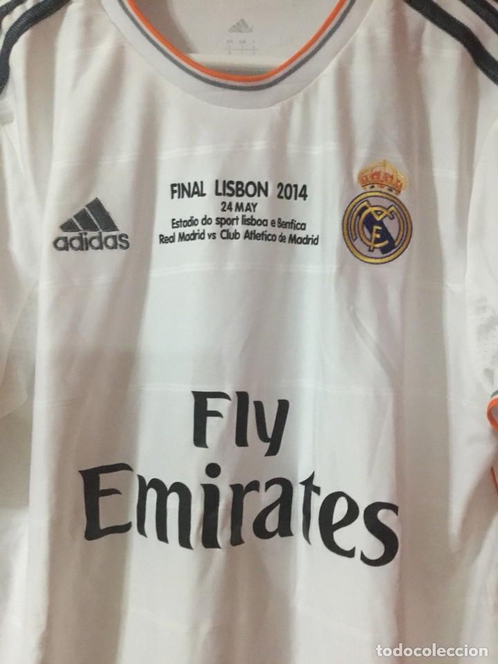 Coleccionismo deportivo: Camiseta oficial casa R. Madrid Bale - Foto 3 - 127734995