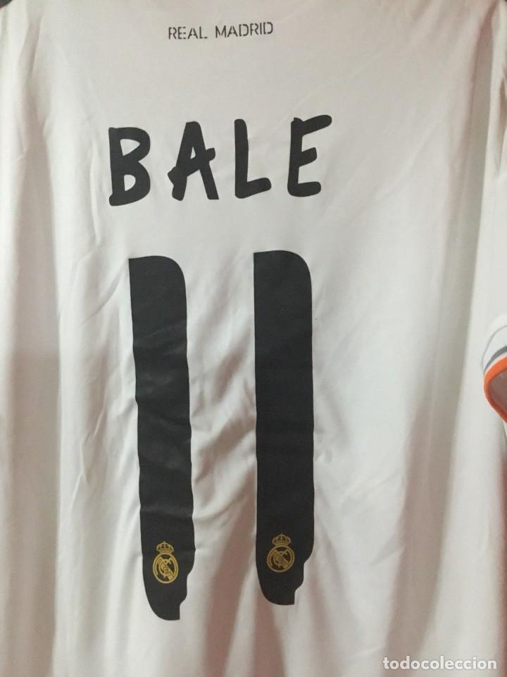 Coleccionismo deportivo: Camiseta oficial casa R. Madrid Bale - Foto 5 - 127734995