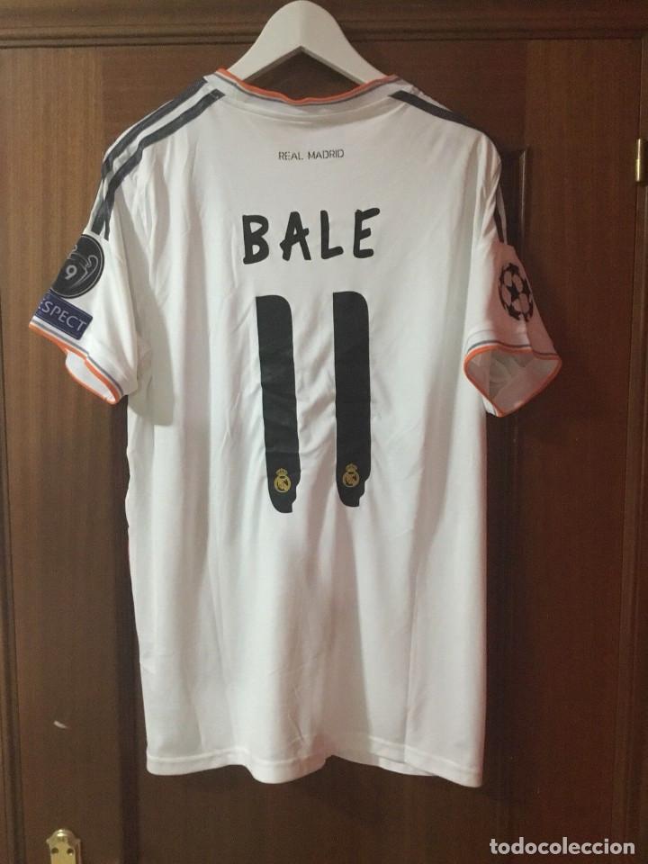 Coleccionismo deportivo: Camiseta oficial casa R. Madrid Bale - Foto 8 - 127734995