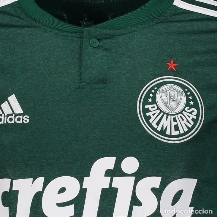 d5e2b3e7527cb Coleccionismo deportivo  Camiseta oficial casa Palmeiras Brasil 2018 2019  Dorsal 7 Dudú - Foto