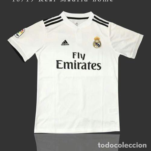 CAMISETA OFICIAL CASA REAL MADRID 2018 2019 TALLA L (Coleccionismo  Deportivo - Ropa y b487be1b610