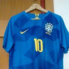 Sports collectibles - Camiseta reserva Selección Brasil 2018 talla L Neymar - 127845899