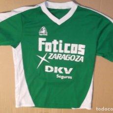 Coleccionismo deportivo: CAMISETA FUTBOL SALA FOTICOS ZARAGOZA ORIGINAL AUSTRAL LIGA NACIONAL PRIMERA JUGADOR NUMERO 9. Lote 128243547