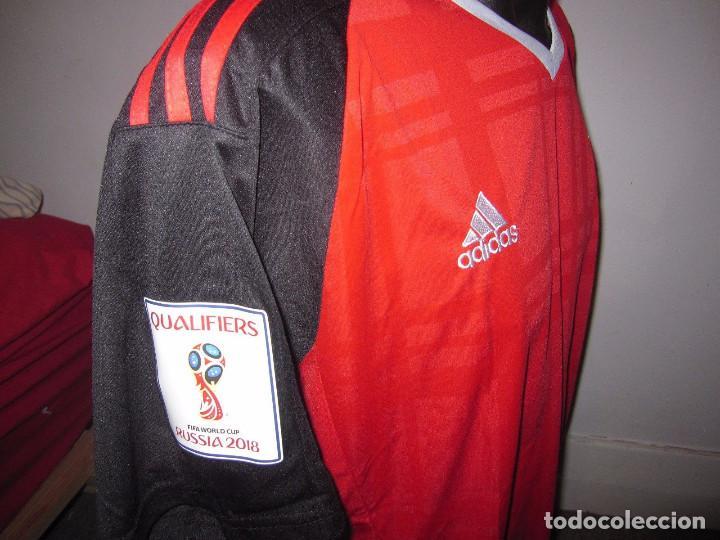 Coleccionismo deportivo: Camiseta casa Selección de Egipto 2018, talla L - Foto 2 - 128294411