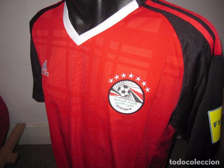 Coleccionismo deportivo: Camiseta casa Selección de Egipto 2018, talla L - Foto 4 - 128294411