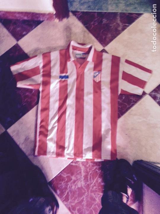 CAMISETA ANTIGUA ATLÉTICO DE MADRID ÚNICA OFICIAL (Coleccionismo Deportivo - Ropa y Complementos - Camisetas de Fútbol)