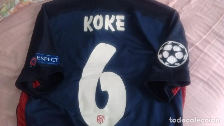 9eb48c027978a Coleccionismo deportivo  Camiseta visitante Match worn Atlético Madrid Koke  2015 2016 - Foto 8