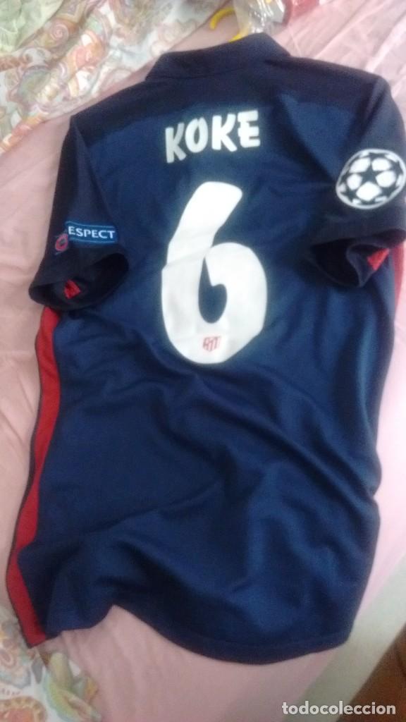 a557ff6eefa49 Coleccionismo deportivo  Camiseta visitante Match worn Atlético Madrid Koke  2015 2016 - Foto 9