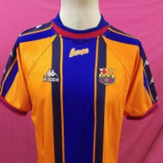Coleccionismo deportivo: CAMISETA FUTBOL ORIGINAL KAPPA F.C. BARCELONA BARÇA DORSAL 11 RIVALDO Tª 97/98. Lote 128630495