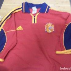 Coleccionismo deportivo: CAMISETA ORIGINAL DE LA SELECCIÓN ESPAÑOLA 1999.ADIDAS XL MANGA CORTA.RAUL,GUARDIOLA,LUIS ENRIQUE.... Lote 129180231