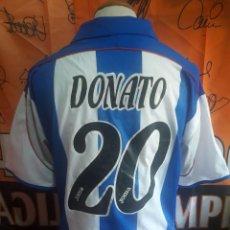 Coleccionismo deportivo: CAMISETA FUTBOL DEPORTIVO LA CORUÑA #20 DONATO 01-02. Lote 129297143