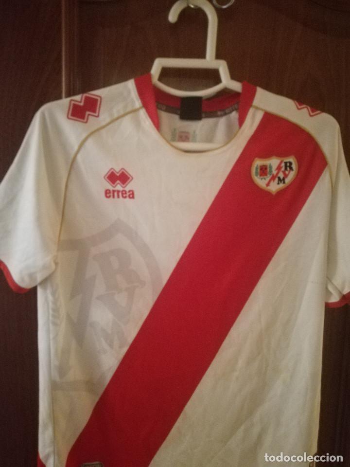 RAYO VALLECANO ALEVIN MATCH WORN S camiseta futbol football shirt fussball trikot segunda mano