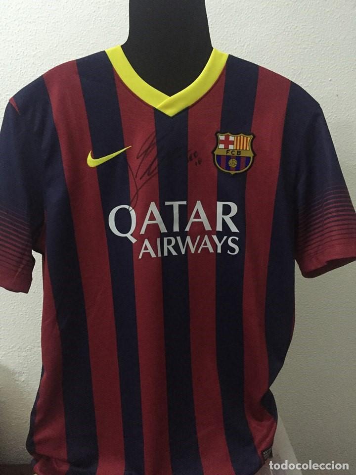 CAMISETA FC BARCELONA FIRMADA POR LEO MESSI (Coleccionismo Deportivo - Ropa  y Complementos - Camisetas 34ad0802641