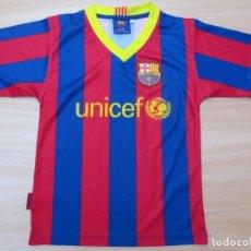 Coleccionismo deportivo: CAMISETA F.C. BARCELONA -BARÇA - UNICEF - TALLA 6 NIÑO - TEMPORADA 2010 / 11. Lote 130604042