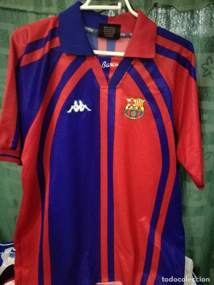 new product 0279c d7e3d FC Barcelona CHAMPIONS LEAGUE Kappa L Camiseta futbol football shirt trikot  maglia