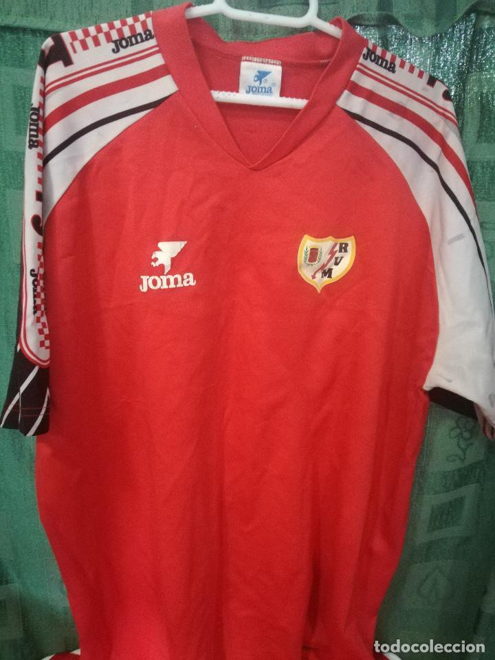 RAYO VALLECANO VINTAGE XL Camiseta futbol football shirt trikot maglia segunda mano
