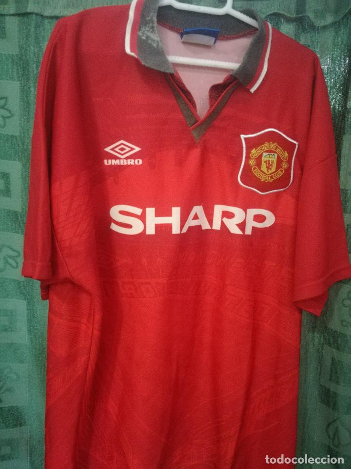 8ca6bf1d2378d Manchester (tara cuello) L Camiseta futbol football shirt trikot maglia