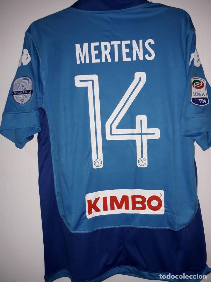 Coleccionismo deportivo  Camiseta oficial casa SSC Napoli 2017 2018 talla L  Mertens - Foto fcc8198a722fd