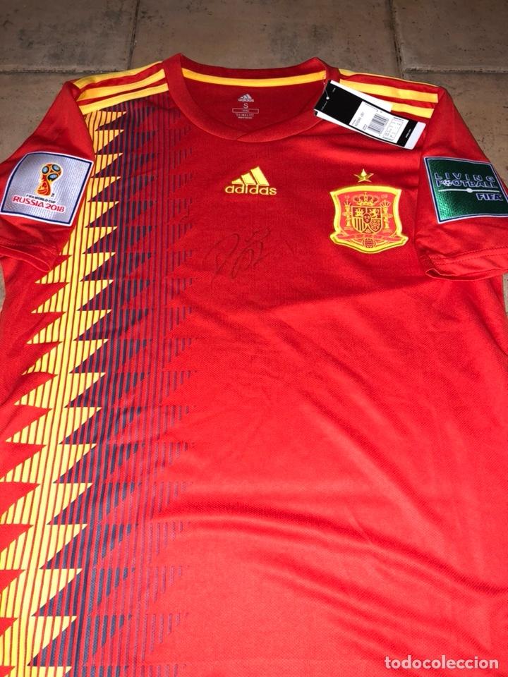 camiseta selección española firmada por diego c - Comprar ...