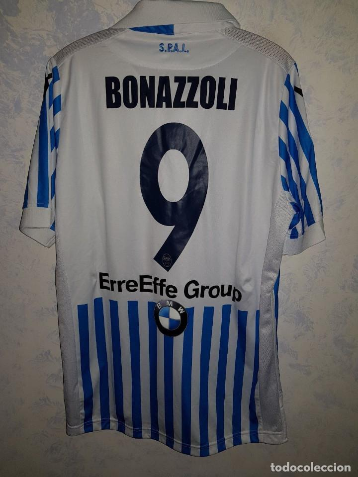 Coleccionismo deportivo  Camiseta casa oficial match worn SPAL Ferrara 2017  2018 Bonazzoli talla L 9d0b749679f48