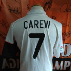 Coleccionismo deportivo: CAMISETA FUTBOL VALENCIA C.F #7 CAREW 2001-2002 NIKE. Lote 131504614