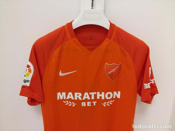Coleccionismo deportivo  Camiseta reserva oficial Match worn Málaga CF 2017  2018 Luis Hernández - 99766c83d8d1b